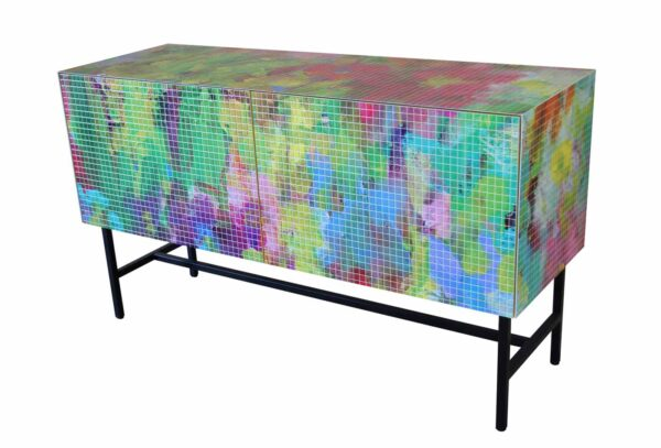 Modern Art Sideboard für Wohnzimmer. Lowboard Kommode. Mosaikdesign.