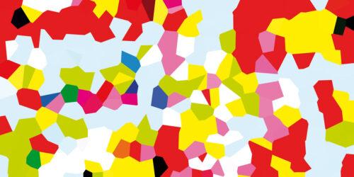 Abstraktes Kunst Bild. Grafisches Wandbild. Moderner Kunstdruck.