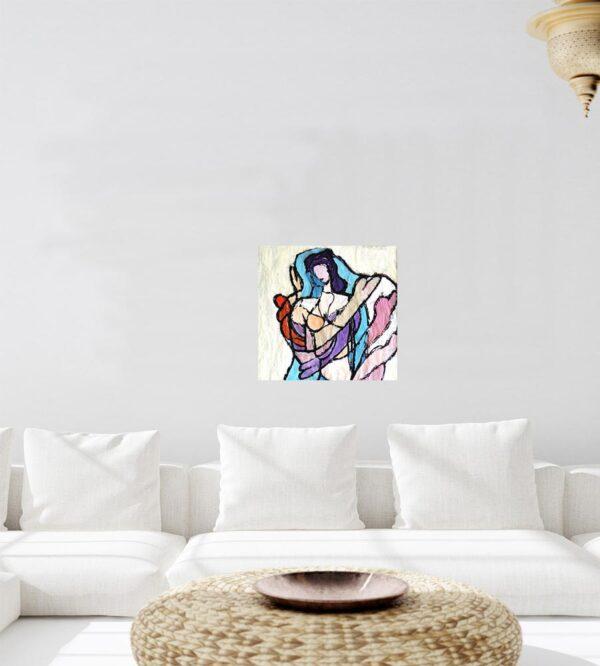 Acrylbild abstrakt modern. Gemaltes Bild. Zeitgenössisches Gemälde.