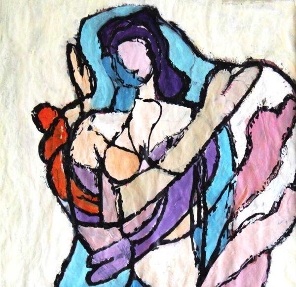Acrylbild abstrakt modern. Abstraktes Bild. Zeitgenössische Malerei.Acryl Gemälde.
