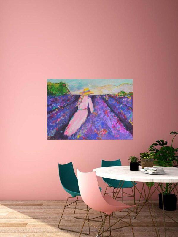 Bild für Küche. Gedruckte Kunstkopie von Gemälde. Provence Motiv.