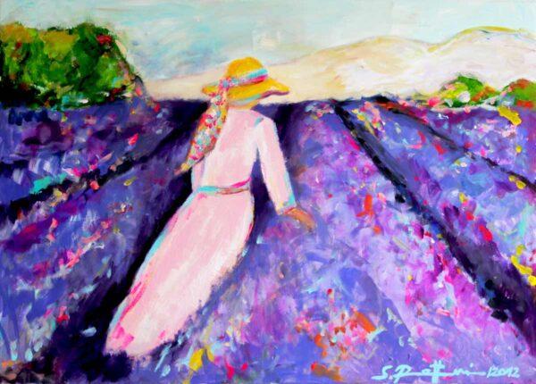 Bild für Küche. Moderner Kunstdruck von Gemälde. Provence Motiv.