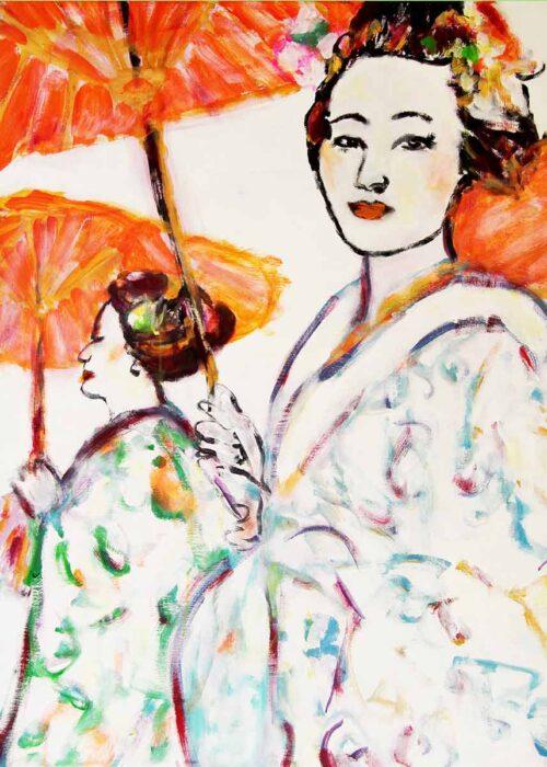 Bild für Schlafzimmer. Gedrucktes Leinwandbild mit harmonischen Farben.