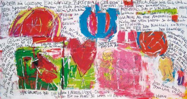 Modernes Bild Herz. Kunstdruck abstrakt.Modernes Bild Herz.Gedruckte Leinwandbild mit Herz.
