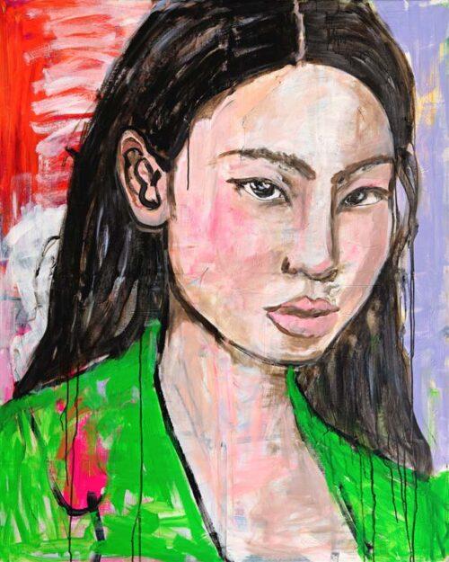 Bild XXL. Kunstdruck Leinwand von Gemälde. Gedrucktes Leinwandbild von Unikat Bild.