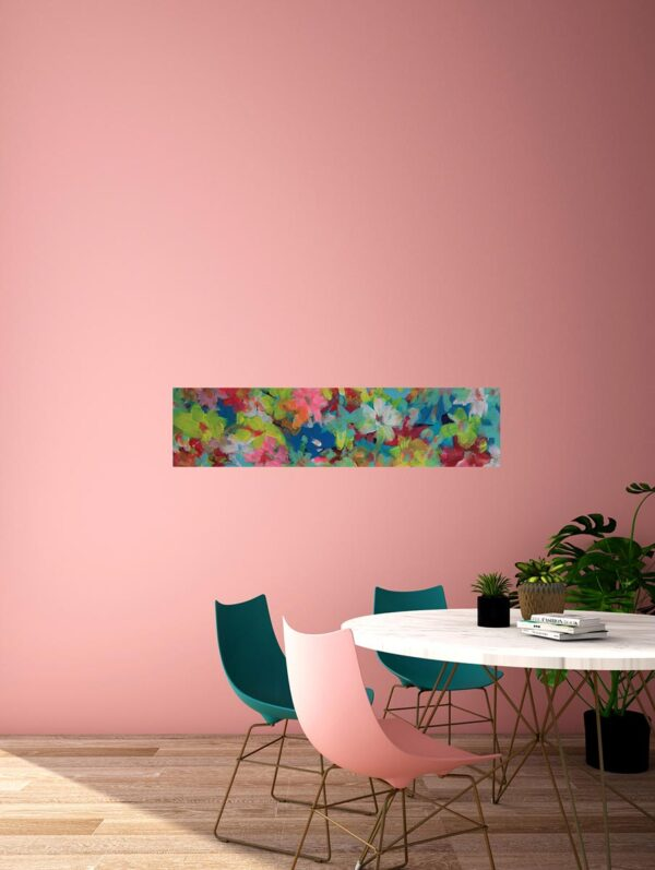 Blumen Gemälde. Abstraktes Künstler Bild. Gemaltes Leinwandbild.