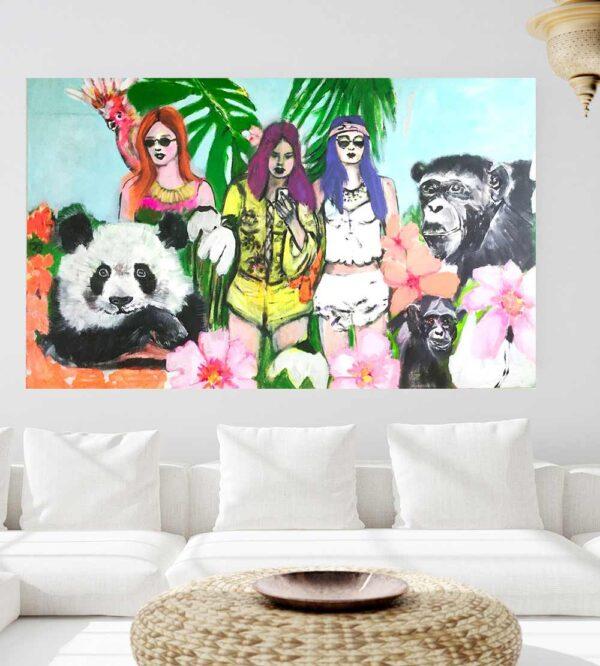 Großes Leinwandbild XXL. Bild für Wohnzimmer. Kunstdruck. Wandbild XXL.