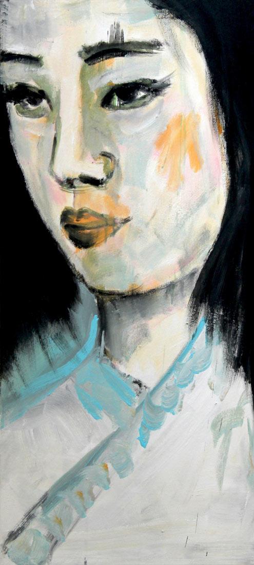 Leinwand Druck. Kunstdruck. Modernes Wandbild XXL. Leinwandbild Porträt.