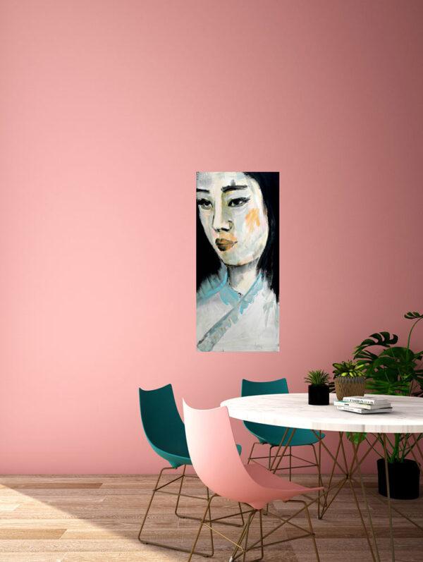 Leinwand Druck. Modernes Wandgemälde XXL. Porträt auf Leinwand.
