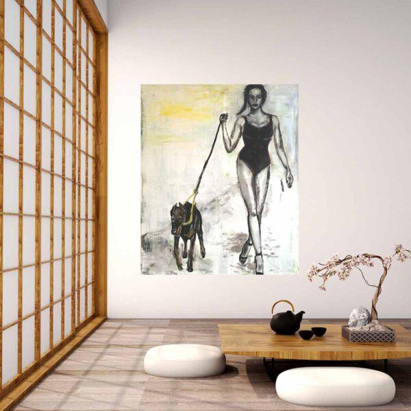 Moderne Kunst. Gemälde von Künstler. Handgemaltes Bild auf Leinwand.