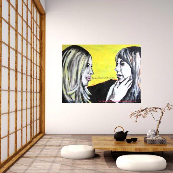Pop Art Bild. Gemaltes Acrylbild. Modernes Gemälde. Leinwandbild XXL.