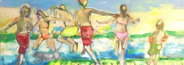 Großes XXL Bild. Moderner Kunstdruck. Wandbild XXL mit Sommer Feeling.