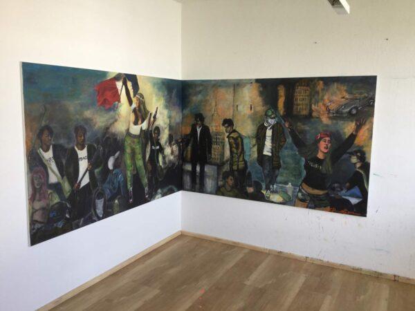 Acrylbilder Gemälde. Zeitgenössisches Motive. Gemalte Wandbilder XXL.