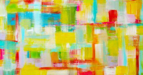 Kunstdruck abstrakt. Farbiges Leinwandbild. Moderne Kunst.