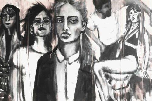 Wandbild modern. Junge Menschen. Leinwandbild. Wohnzimmer Bild