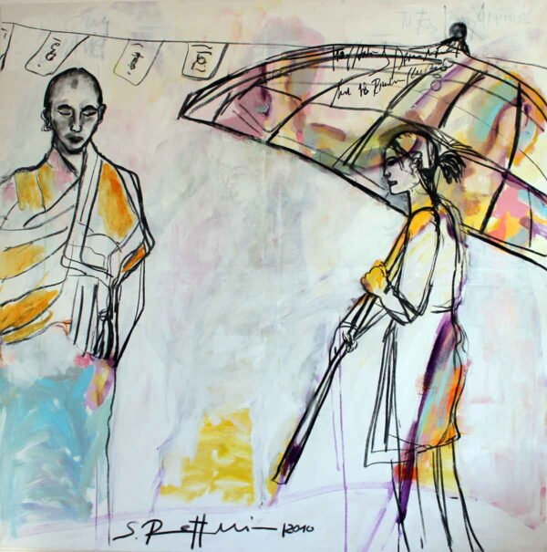 Gemälde gross. Modernes Acrylbild. Meditatives Leinwandbild XXL.