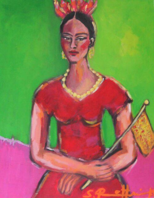 Kunstdruck von Frida Kahlo Gemälde gemalt von Sibylle Rettenmaier.