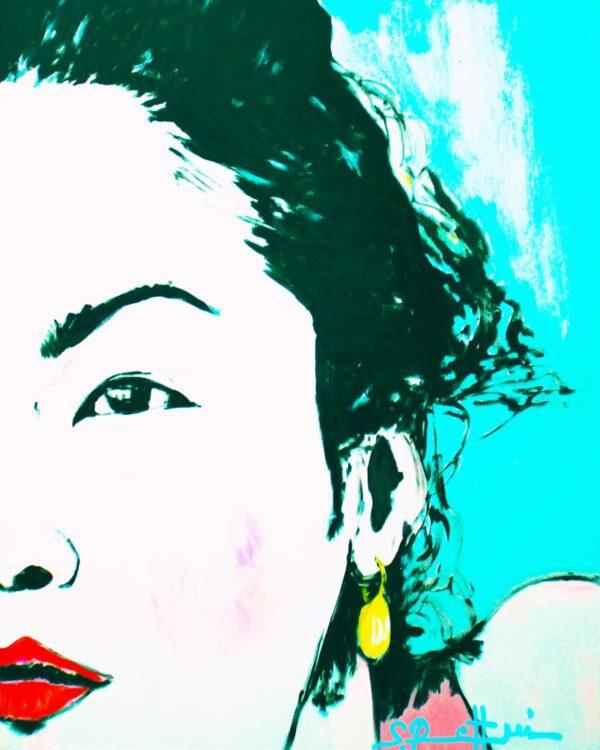 PopArt Bild. Moderner Kunstdruck von Pop-ART Gemälde. Frauen Portrait.