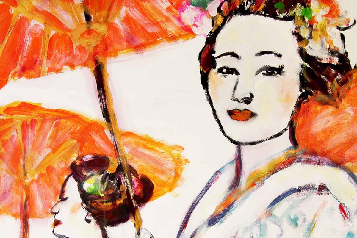 Bild für das Schlafzimmer. Kunstdruck mit zarten Farben. Harmonisches Leinwandbild.